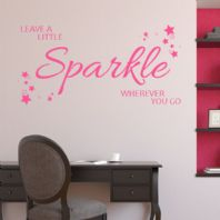 Leave a Little Sparkle Wherever you go  ~ Wall sticker / decals (1)